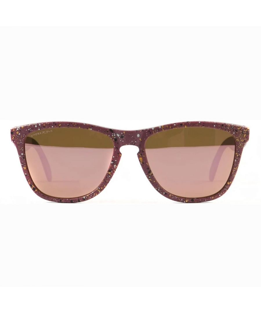 Image for Oakley Sunglasses Frogskins Mix Splatter Vampirella Prizm Rose Gold