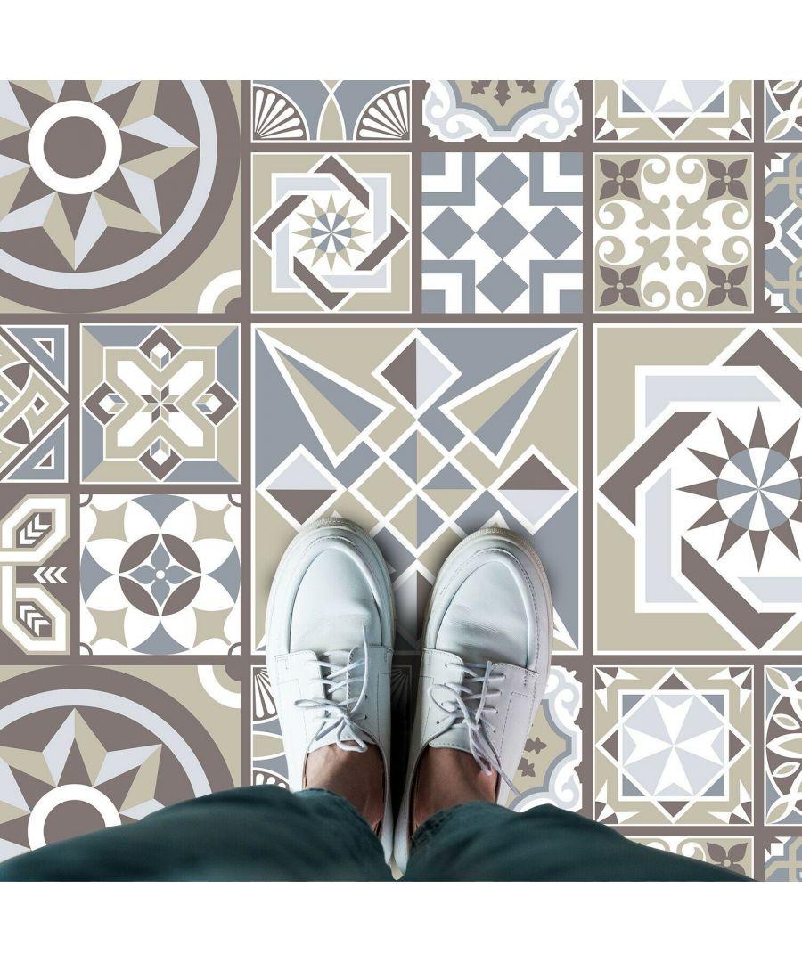 Image for WFS6011 - Limestone Spanish Tiles Melange Floor Sticker 120cm x 60 cm