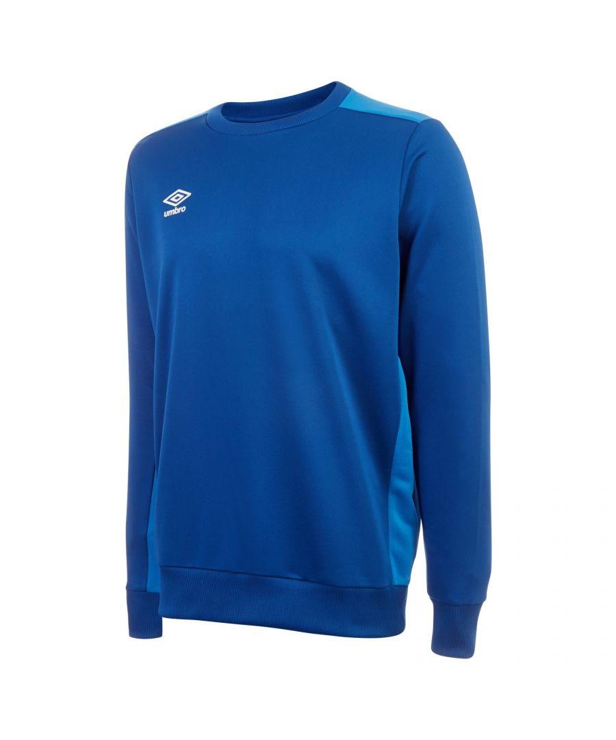 Image for Umbro Boys Fleece Training Sweatshirt (Royal Blue/French Blue)