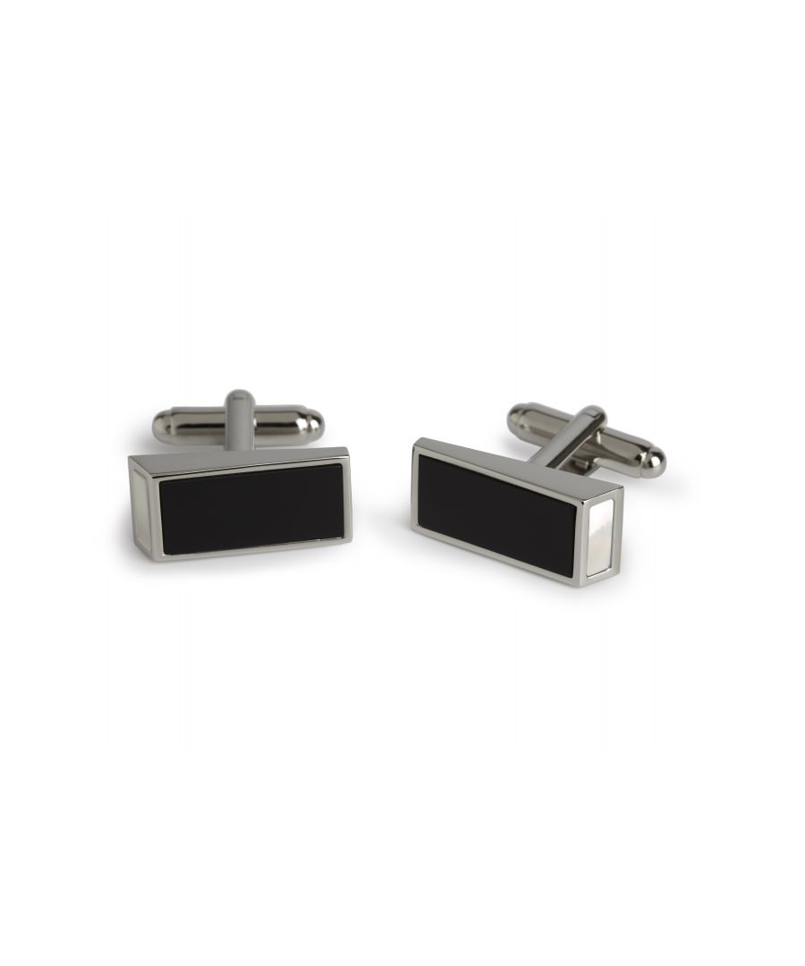 Image for Onyx MOP Wedge Cufflinks