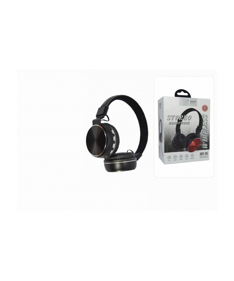 Image for Wireless HBT-05 headphones with BT connection microphone and auxiliary input.