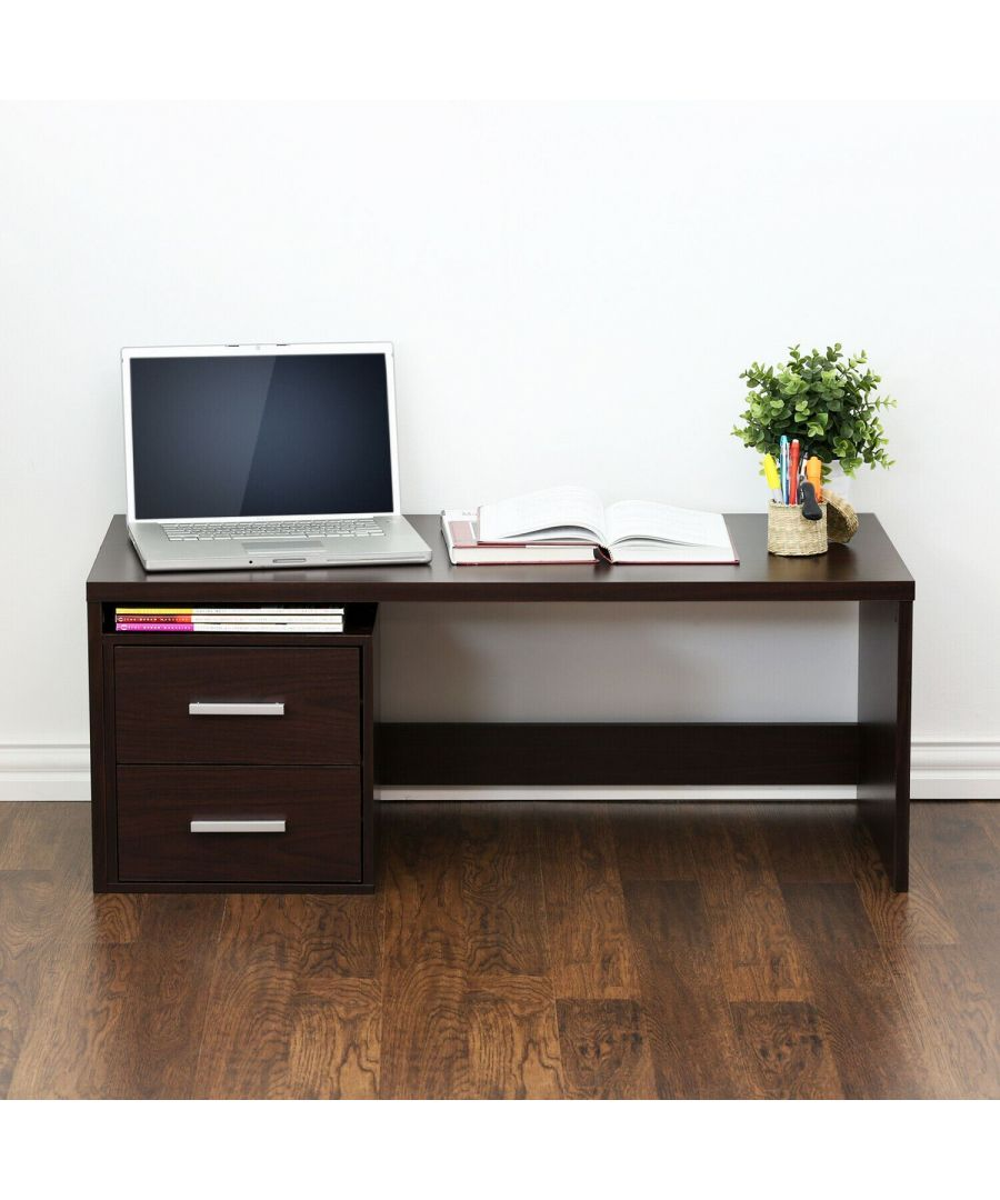 Image for Furinno Indo Low Rise Tatami Writing Desk - Espresso