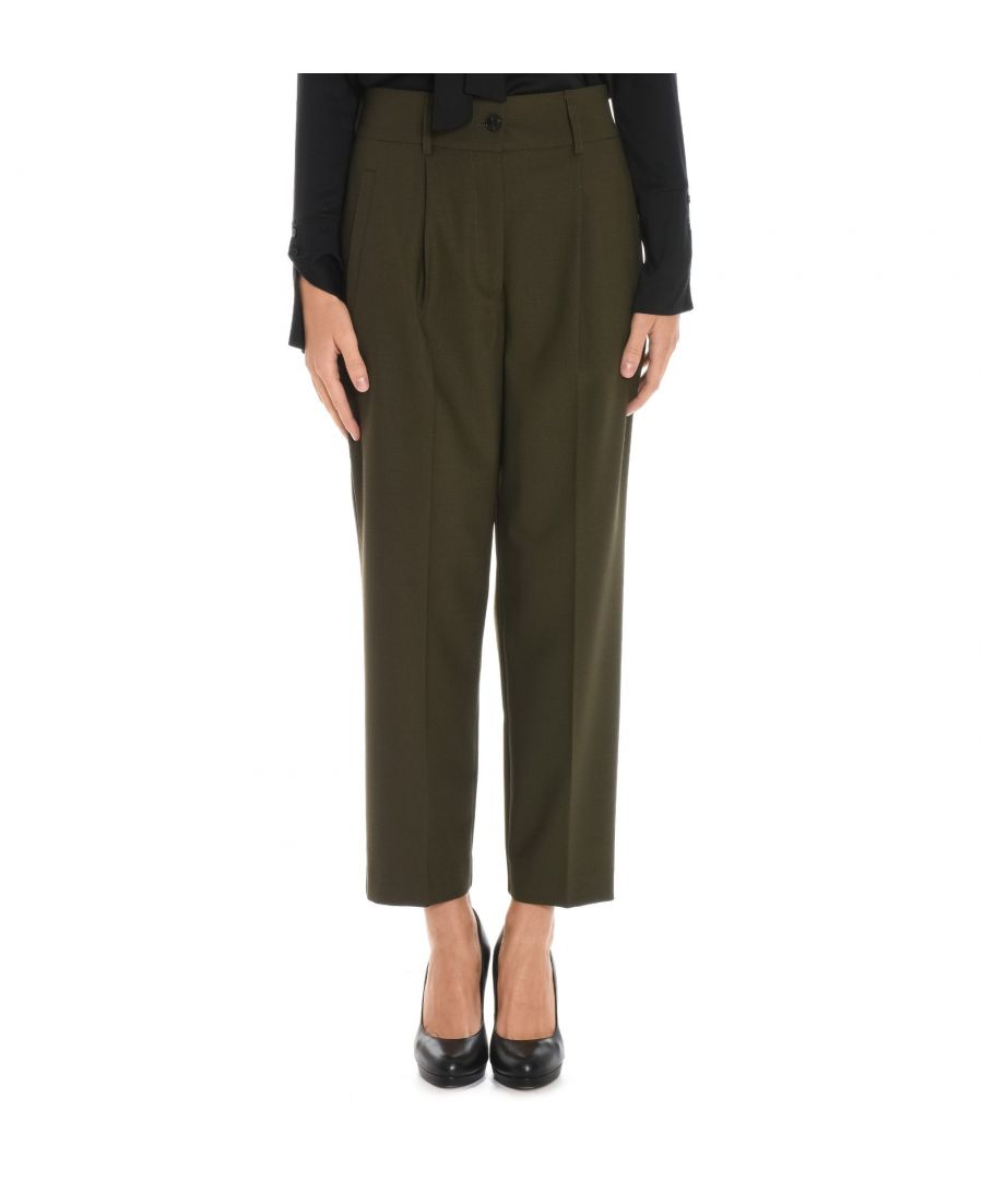 Image for JUCCA WOMEN'S J2614011243 GREEN POLYESTER PANTS