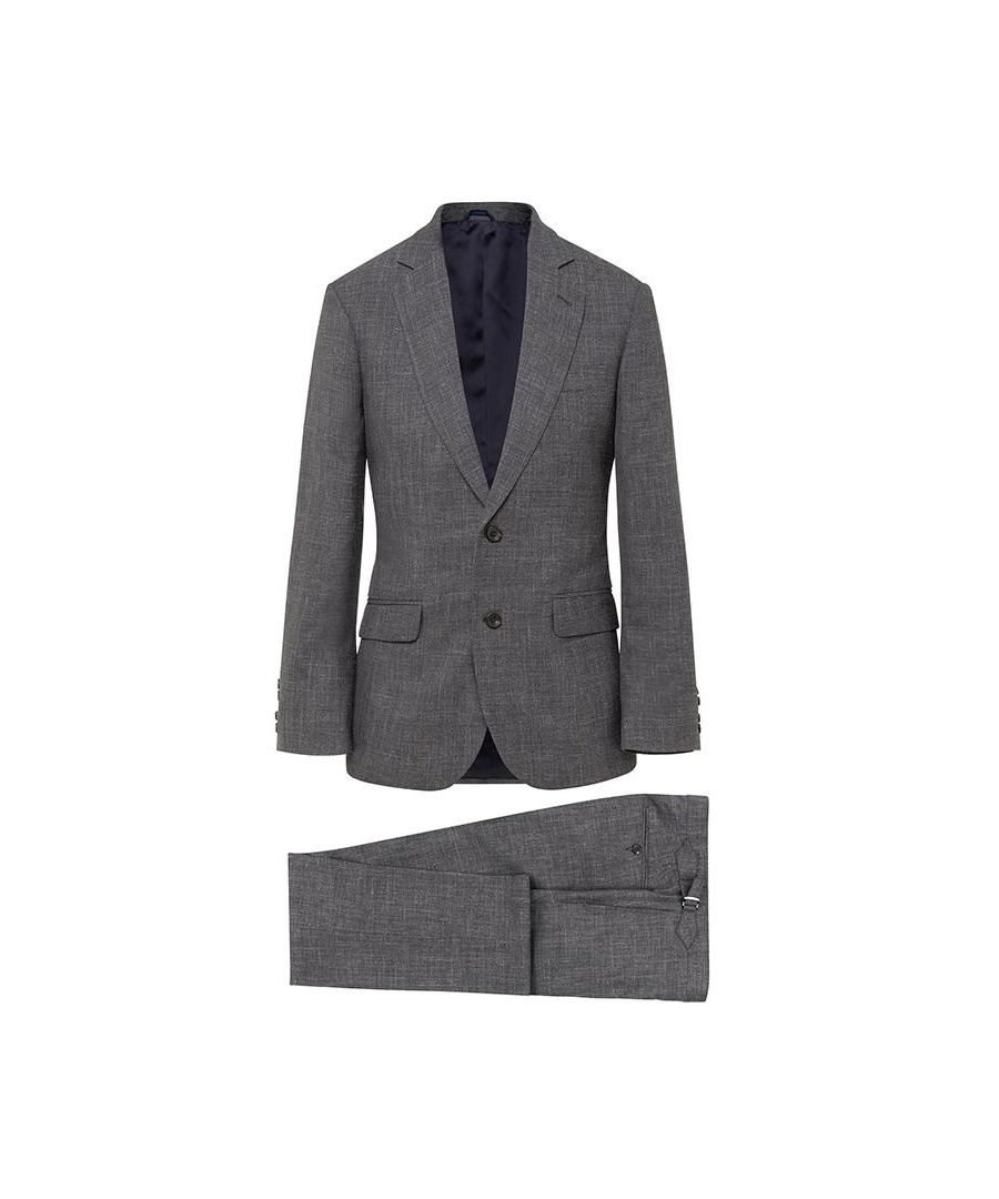 Image for Men's Hackett Mayfair Flannel Suit in Navy