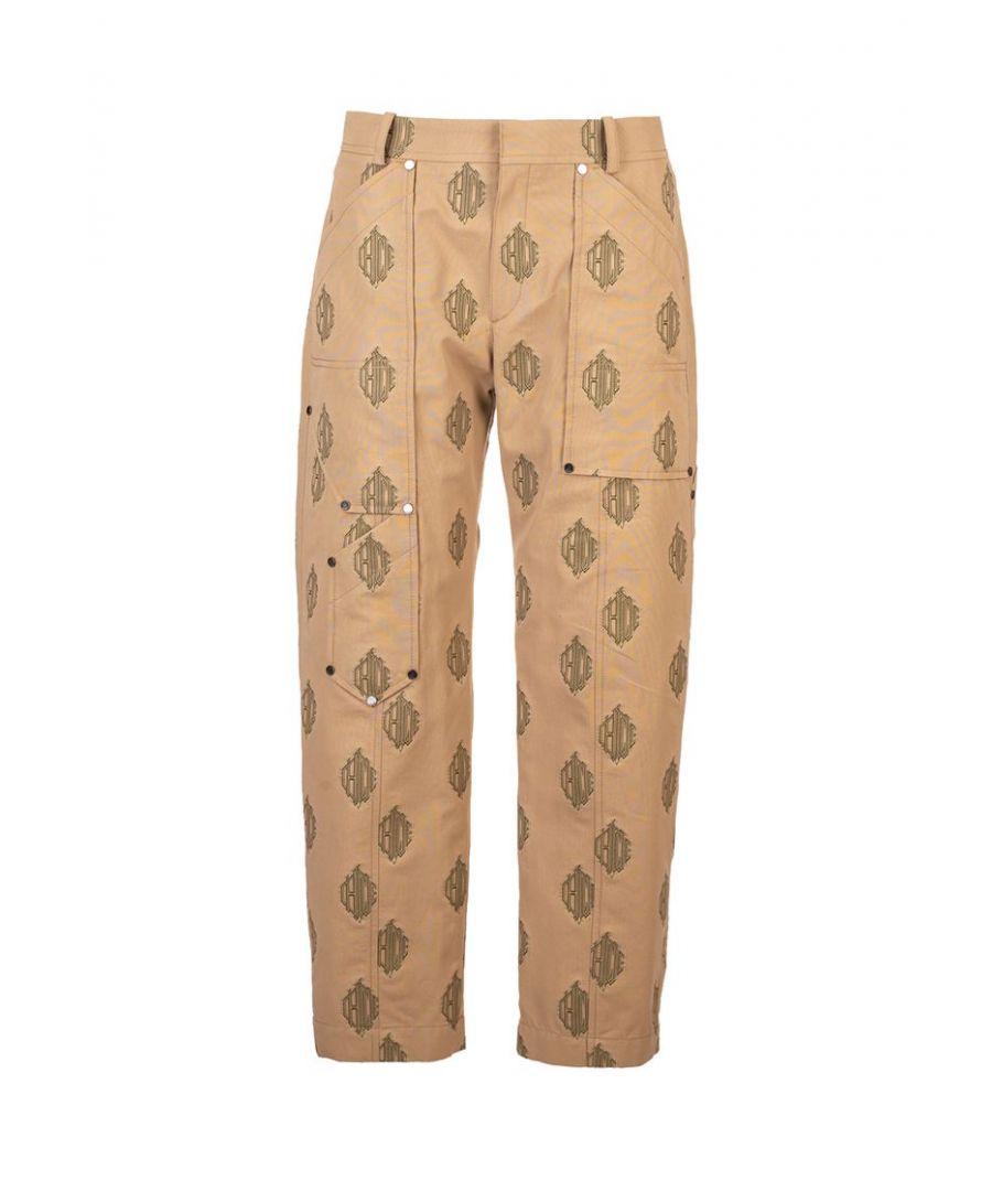 Image for CHLOÉ WOMEN'S CHC20SPA1431224I BROWN COTTON PANTS