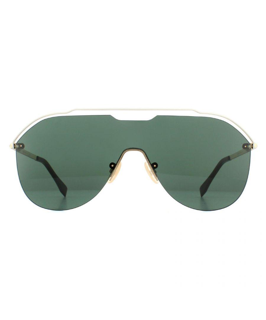 Image for Fendi Sunglasses M0030/S J5G QT Gold Green
