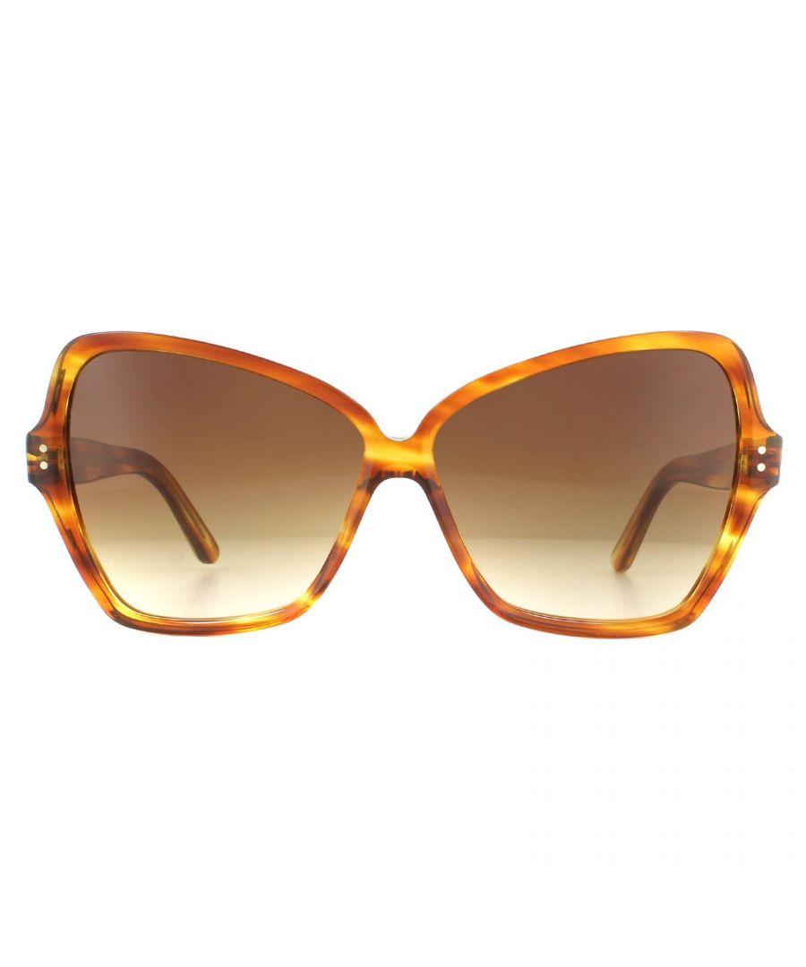Image for Celine Sunglasses CL40064I 56F Havana Brown Gradient