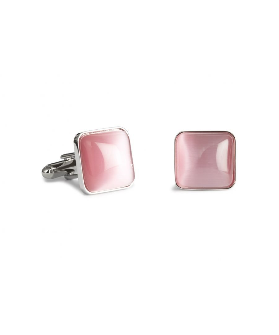 Image for Pink Catseye Spangle Cufflinks