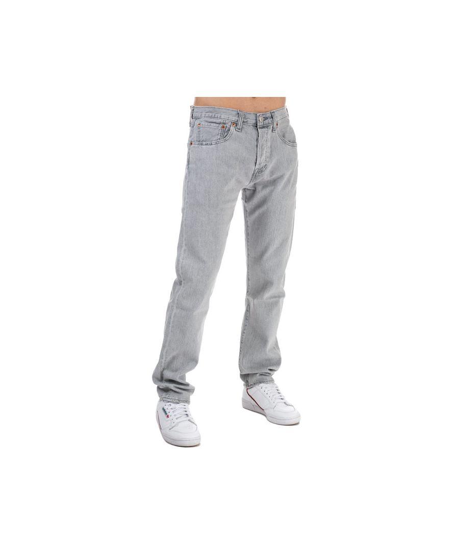 Image for Men's Levis 501 Slim Taper Jeans in Grey