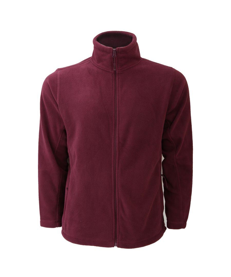 Image for Russell Mens Full Zip Outdoor Fleece Jacket (Burgundy)