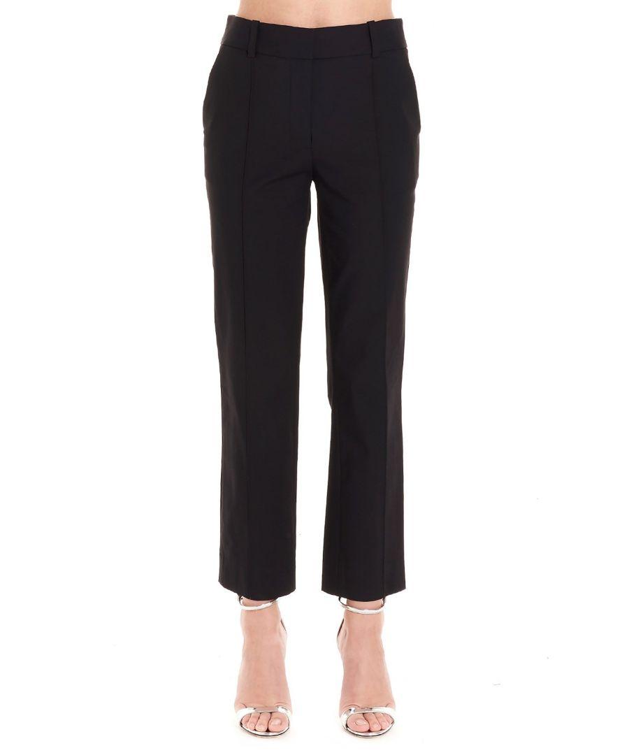 Image for DIANE VON FURSTENBERG WOMEN'S 13404DVFBLACK BLACK COTTON PANTS
