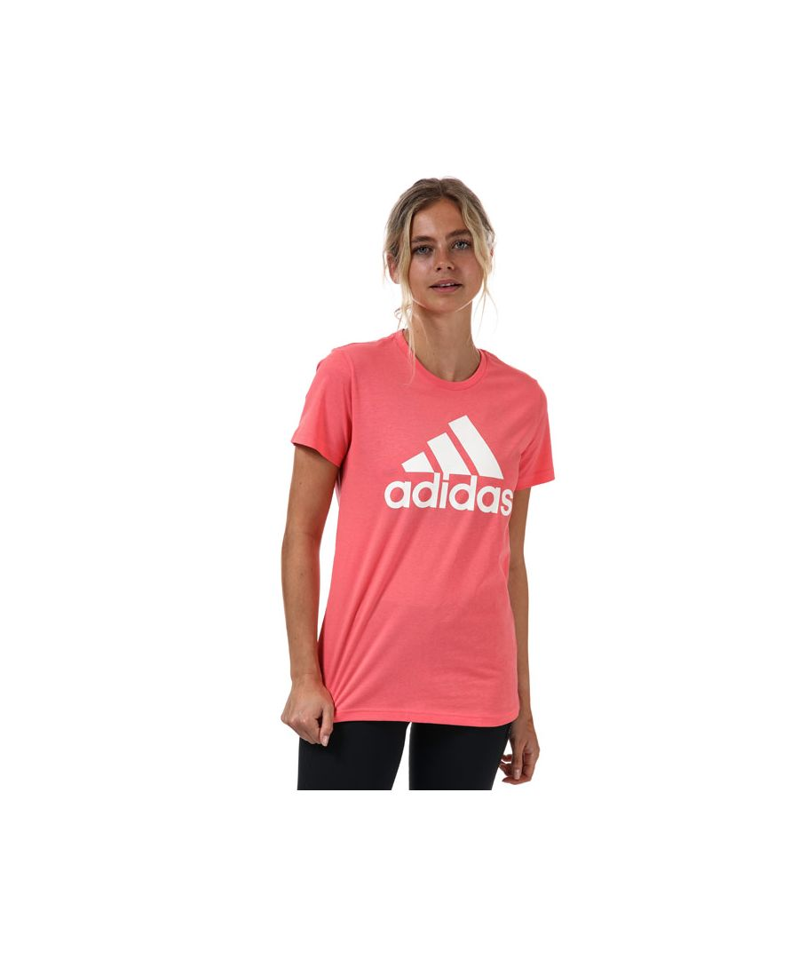 Image for Women's adidas Badge Of Sport Cotton T-Shirt in Coral