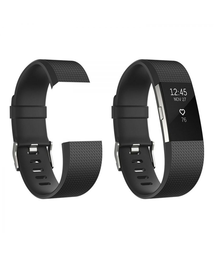 Image for Fitbit Charge 2 Replacement Bands Classic Black Large