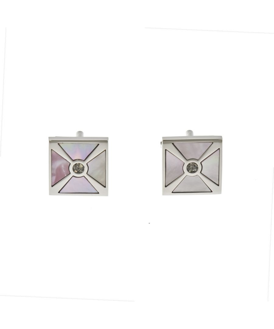 Image for Pink MOP Maltese Cufflinks
