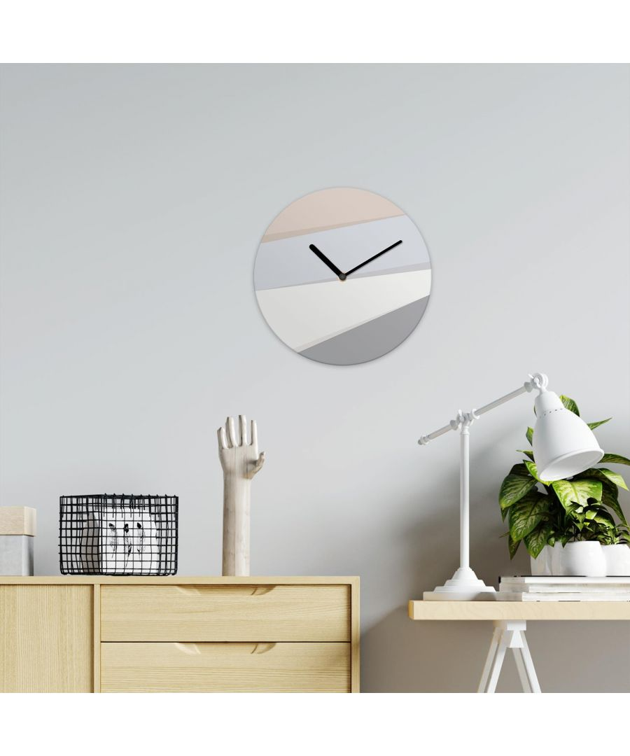 Image for Abstract Lines Pastel Grey Minimalist Wall Clock wall clock, wall clock modern 30 cm x 30 cm x 2.5 cm 1 piece