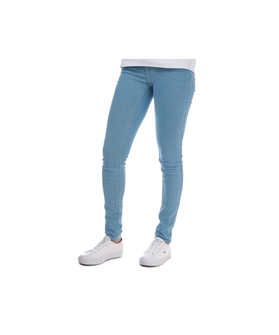 Image for Women's Levis Line 8 Mid Skinny Blue Ice Jeans in Light Blue