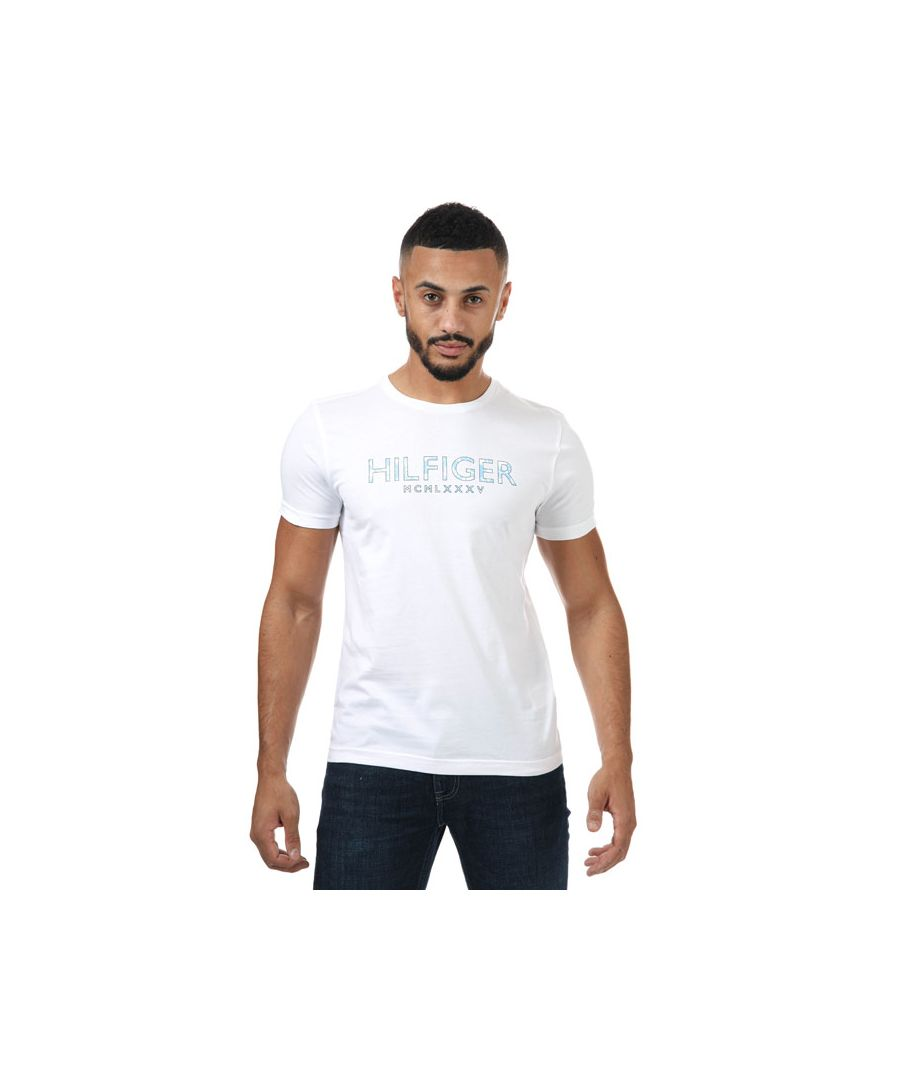 Image for Men's Tommy Hilfiger Palm Print T-Shirt in White