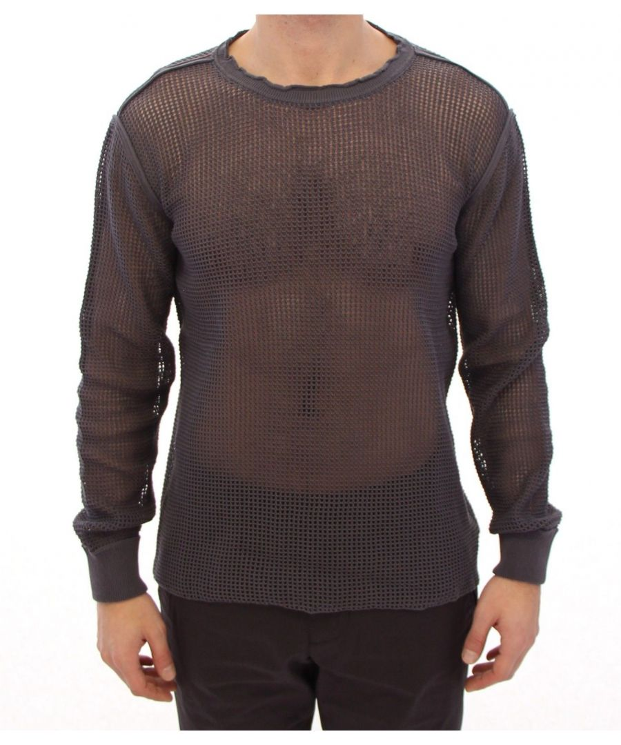 Image for Dolce & Gabbana Purple Runway Netz Pullover Netted Sweater