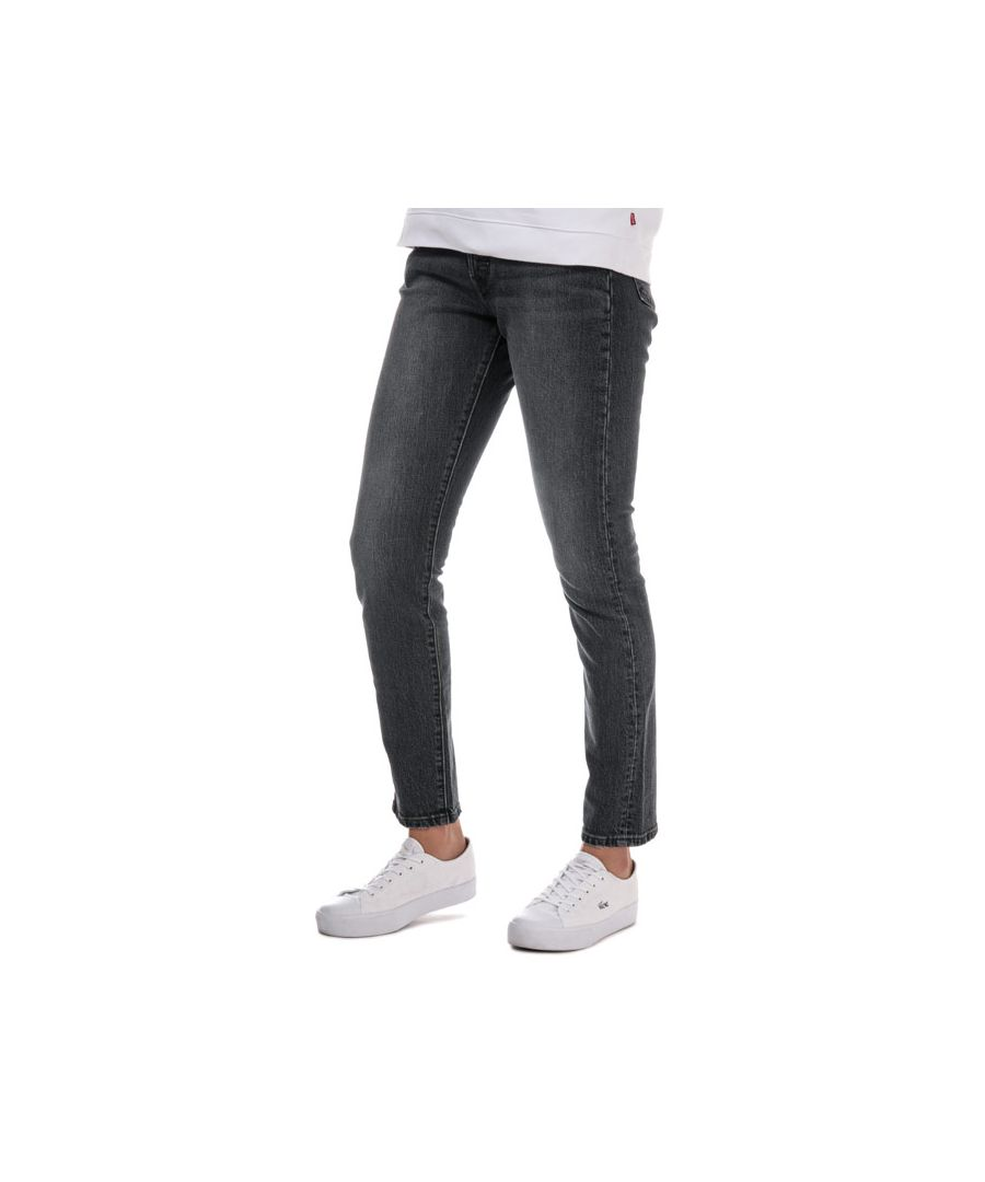 Image for Women's Levis 501 Skinny Coal Black Jeans in Grey