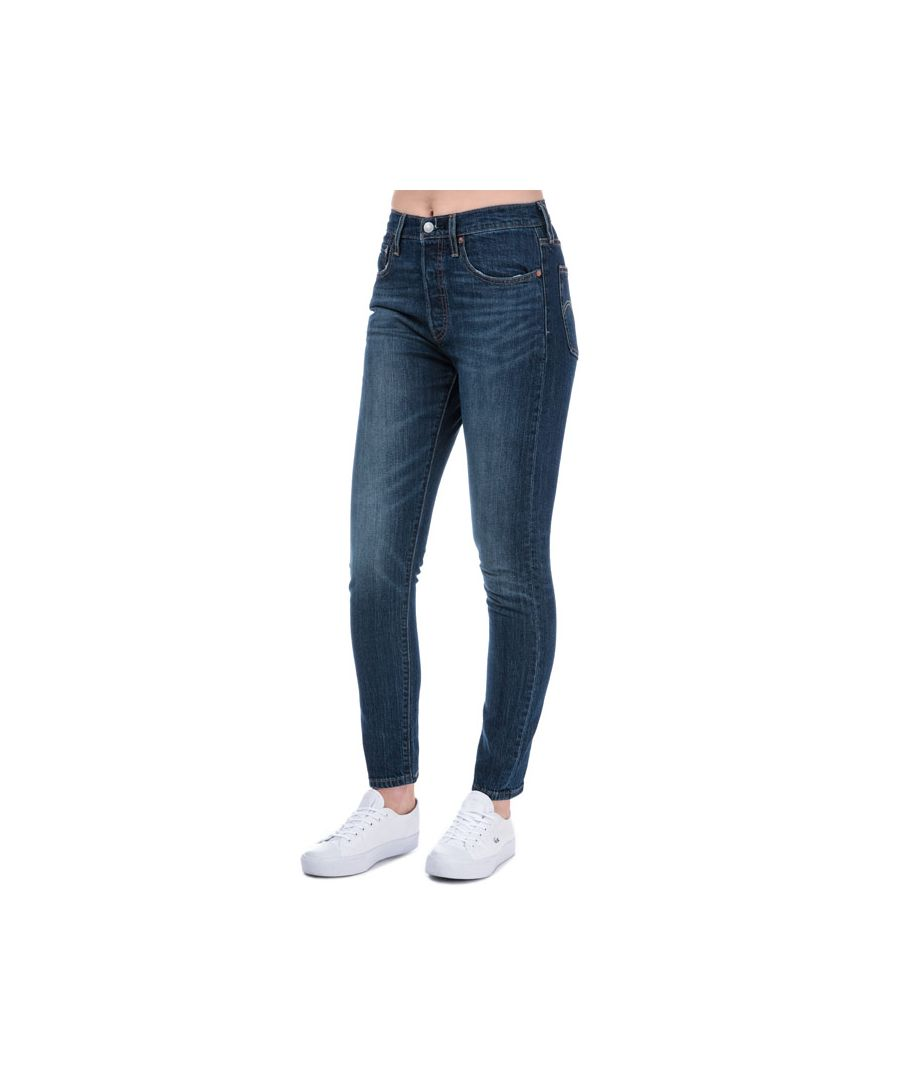 Image for Women's Levis 501 Skinny Neat Freak Jeans in Denim