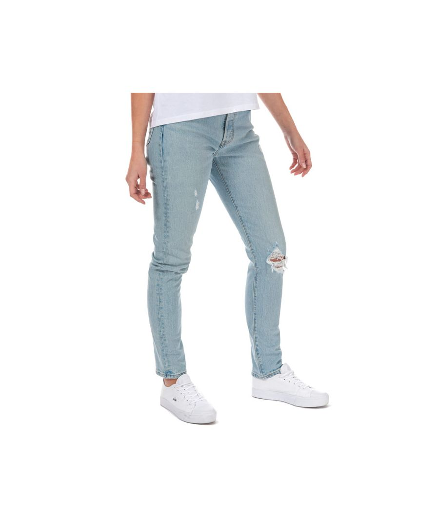 Image for Women's Levis 501 Skinny Low Pro Jeans in Light Blue