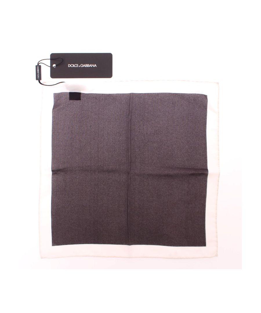 Image for Dolce & Gabbana Brown Silk Handkerchief