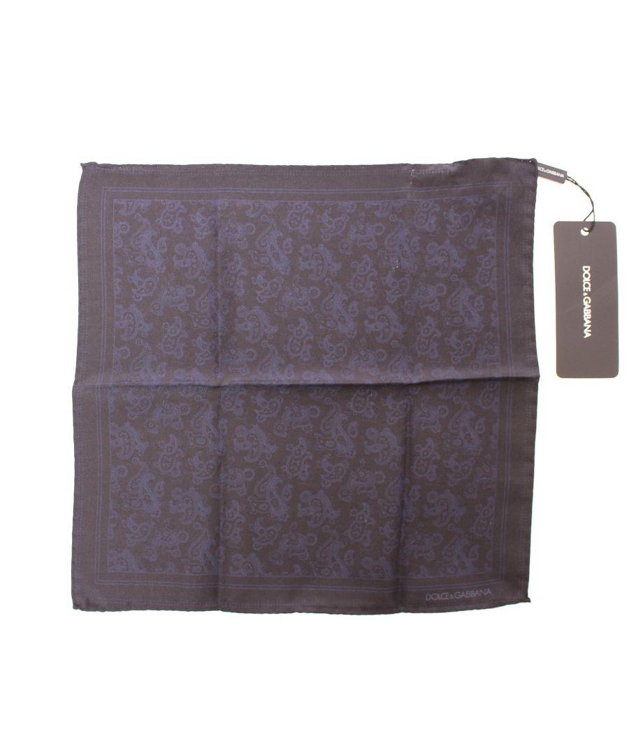 Image for Dolce & Gabbana Blue Silk Handkerchief