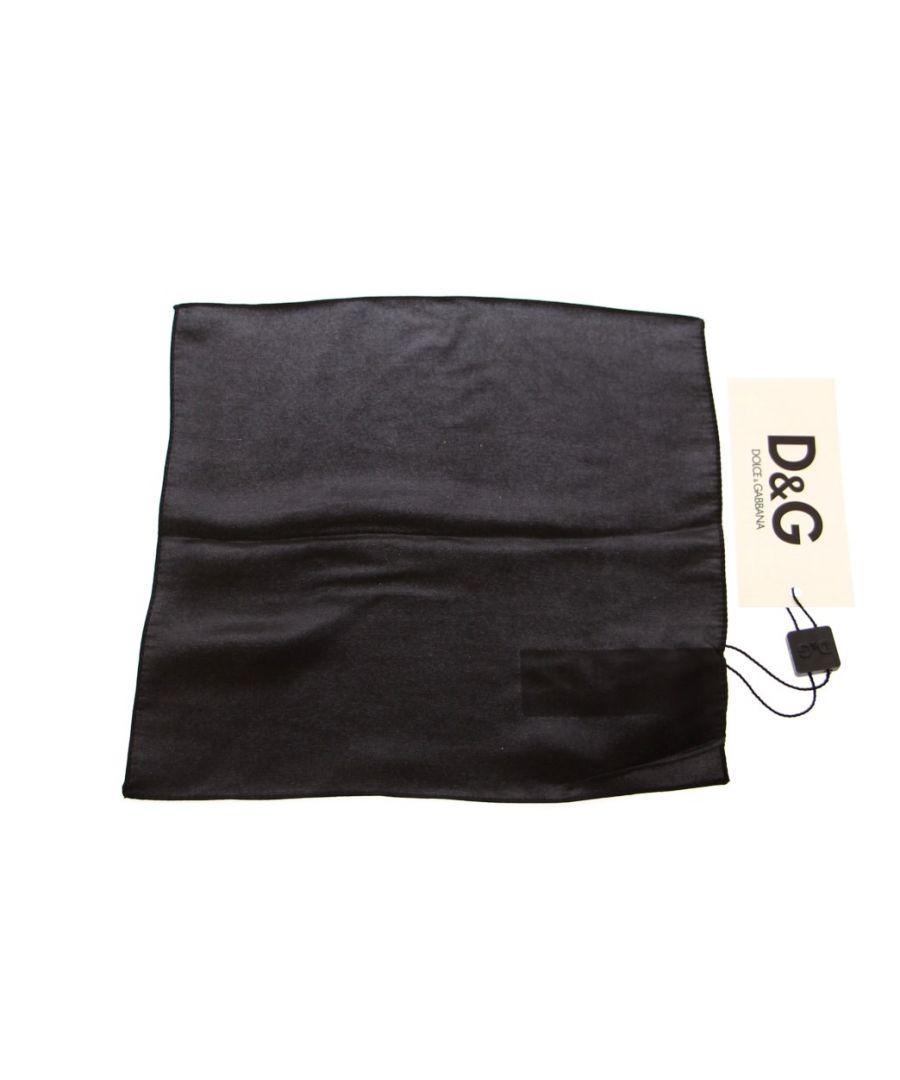 Image for Dolce & Gabbana Black Silk Handkerchief