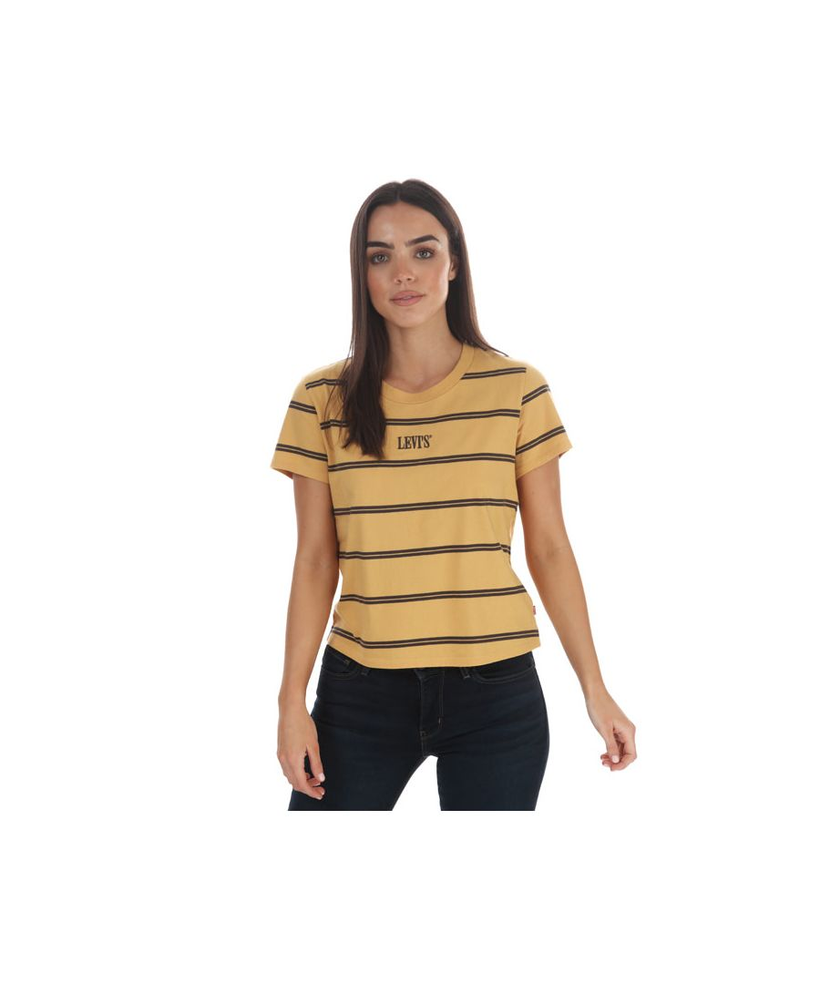 Image for Women's Levis Graphic Surf T-Shirt Yellow 6in Yellow