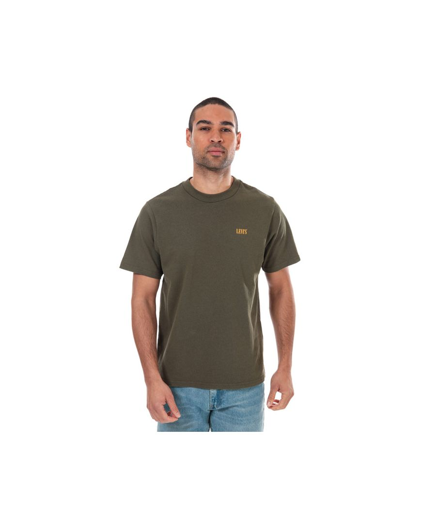 Image for Men's Levis Relaxed Mock Neck T-Shirt in olive