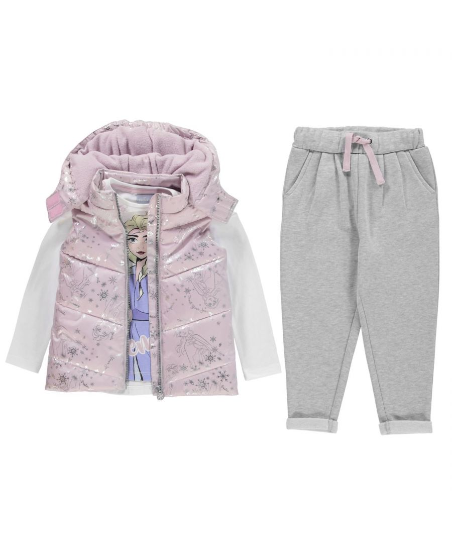 Image for Character Girls Gilet Set Sleeveless Jacket Pants Trousers Frozen Outwear Top