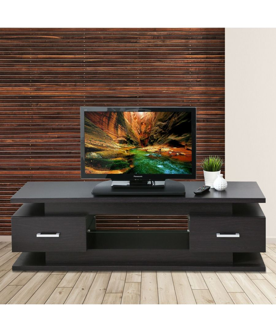 Image for Furinno Indo Swivel TV Stand - Black