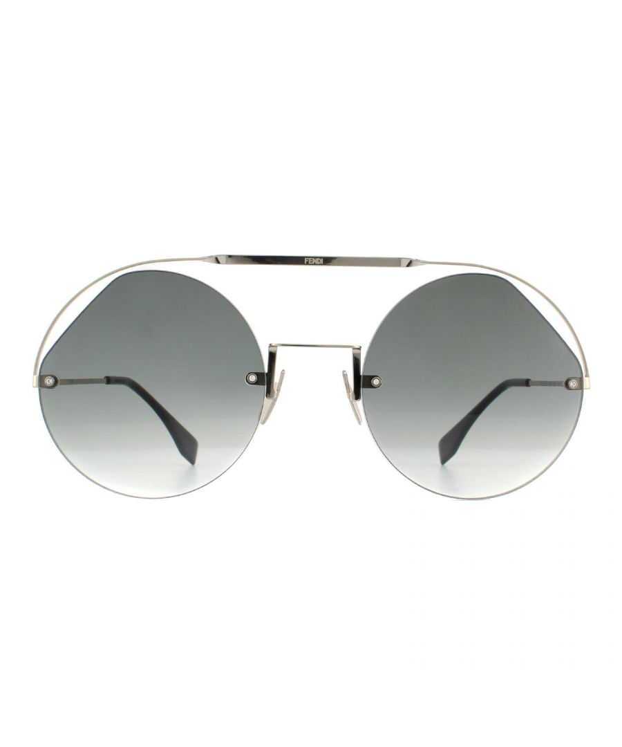 Image for Fendi Sunglasses FF 0325/S KB7 9O Silver Grey Gradient