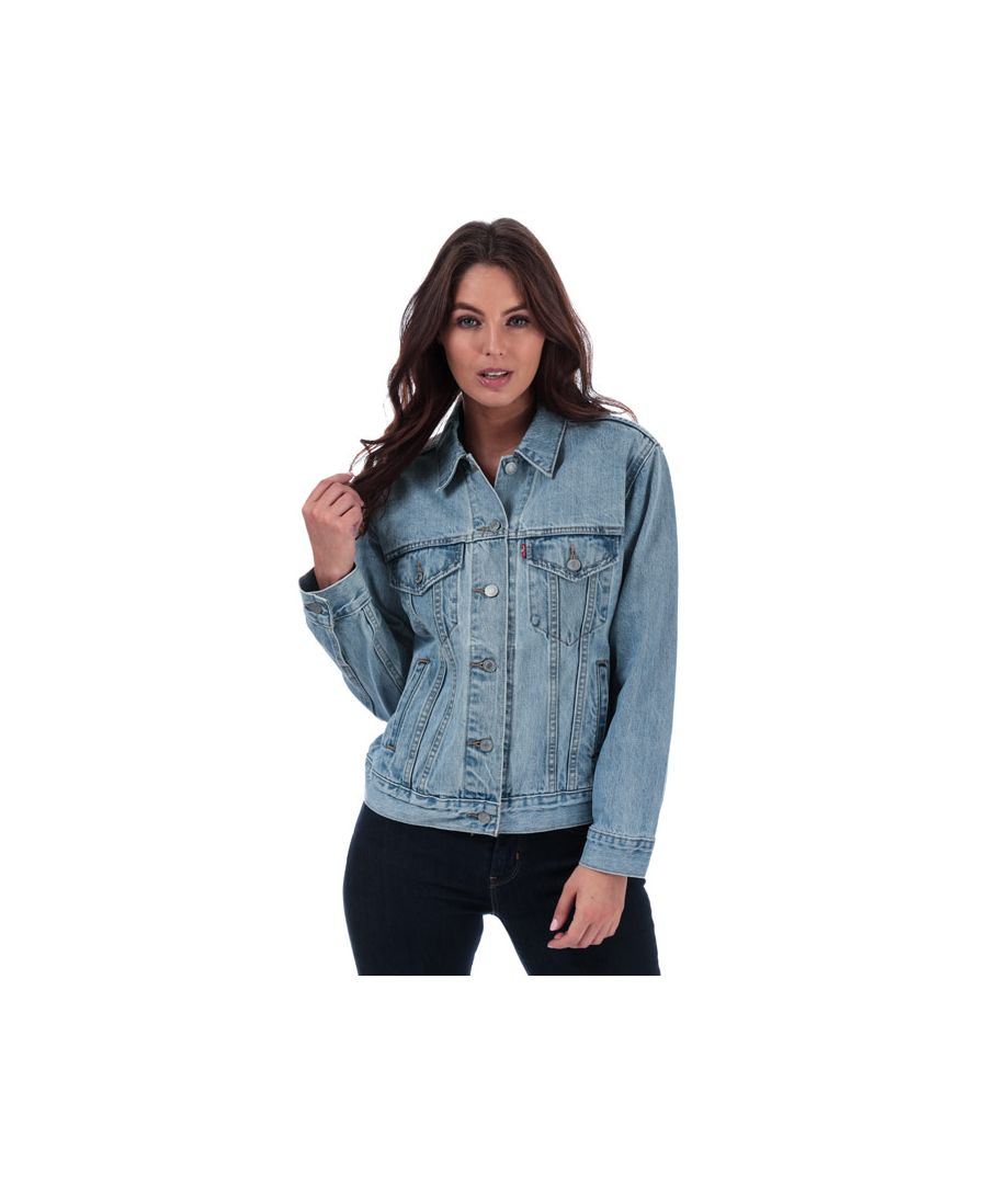 Image for Women's Levis Ex-Boyfriend Trucker Jacket in Denim
