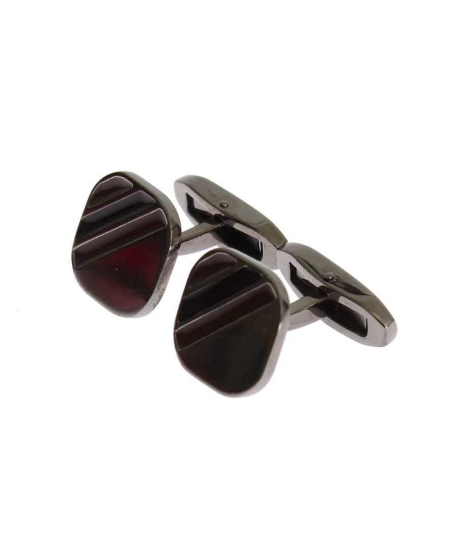 Image for Dolce & Gabbana Silver Brass Multicolor Stone Cufflinks