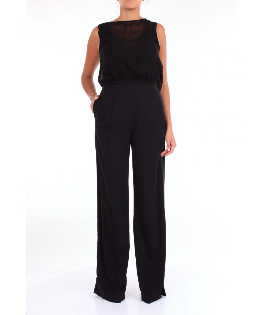 Image for JUCCA WOMEN'S J2917008NERO BLACK VISCOSE JUMPSUIT