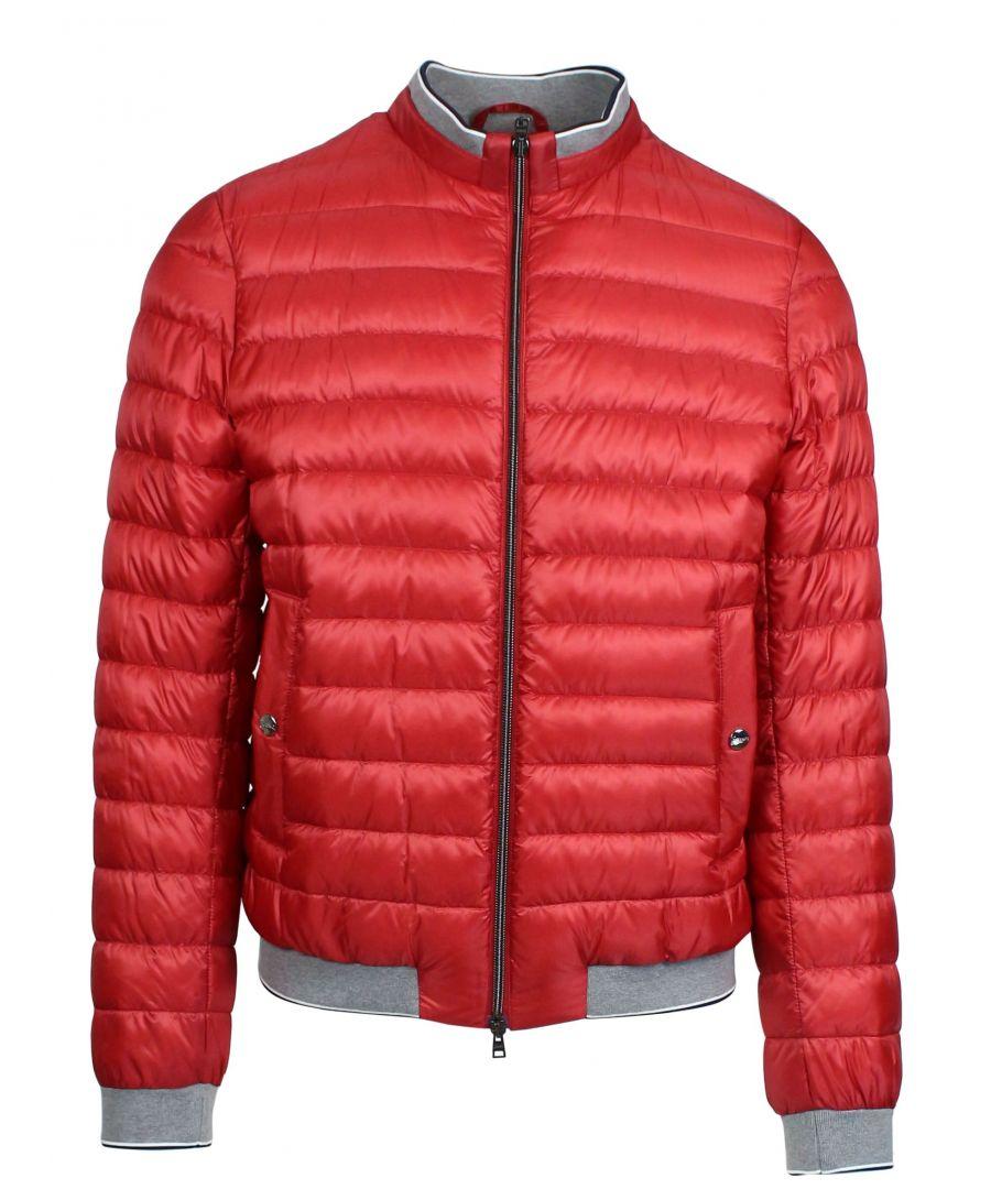 Image for HERNO MEN'S PI0540U120206980 RED POLYAMIDE DOWN JACKET