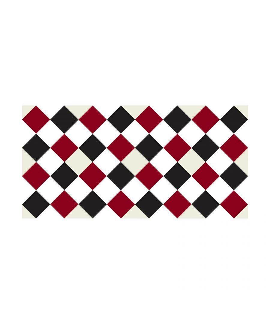 Image for WFS6025 - Victorian Diamond Tiles Floor Stickers 120cm x 60 cm