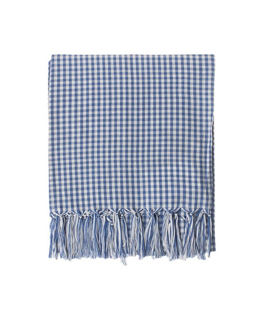 Image for Men's Hackett, Check Small Scarf in Cobalt