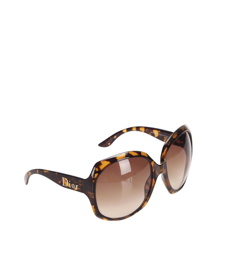 Image for Vintage Dior Glossy 1 Square Tinted Sunglasses Brown