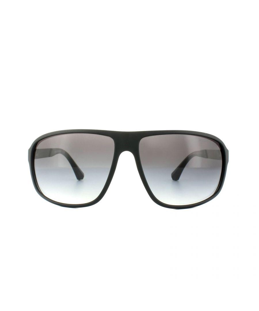 Image for Emporio Armani Sunglasses 4029 50638G Black Rubber Grey Gradient