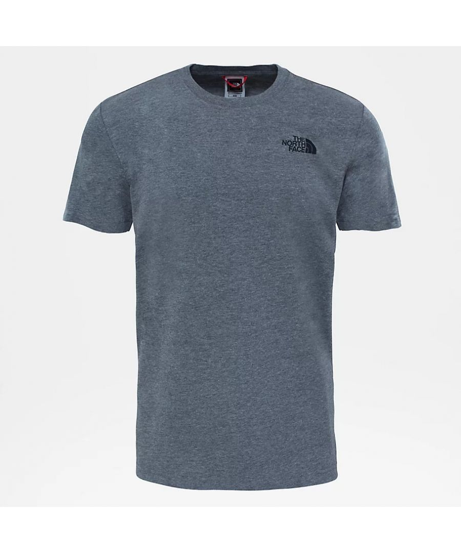 Image for The North Face Men's Redbox Tee, Grey/Black