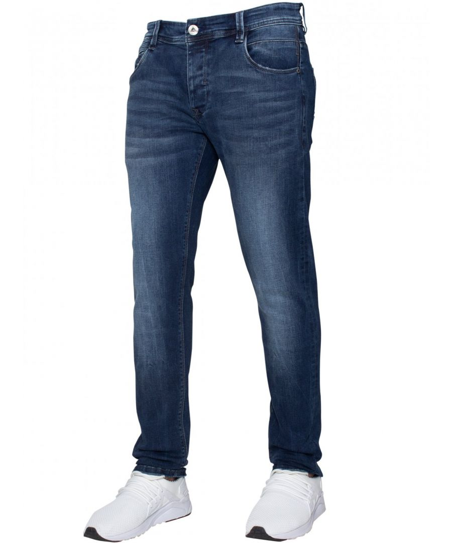 Image for ETO | Mens Designer Basic Hyperstretch Blue Jeans