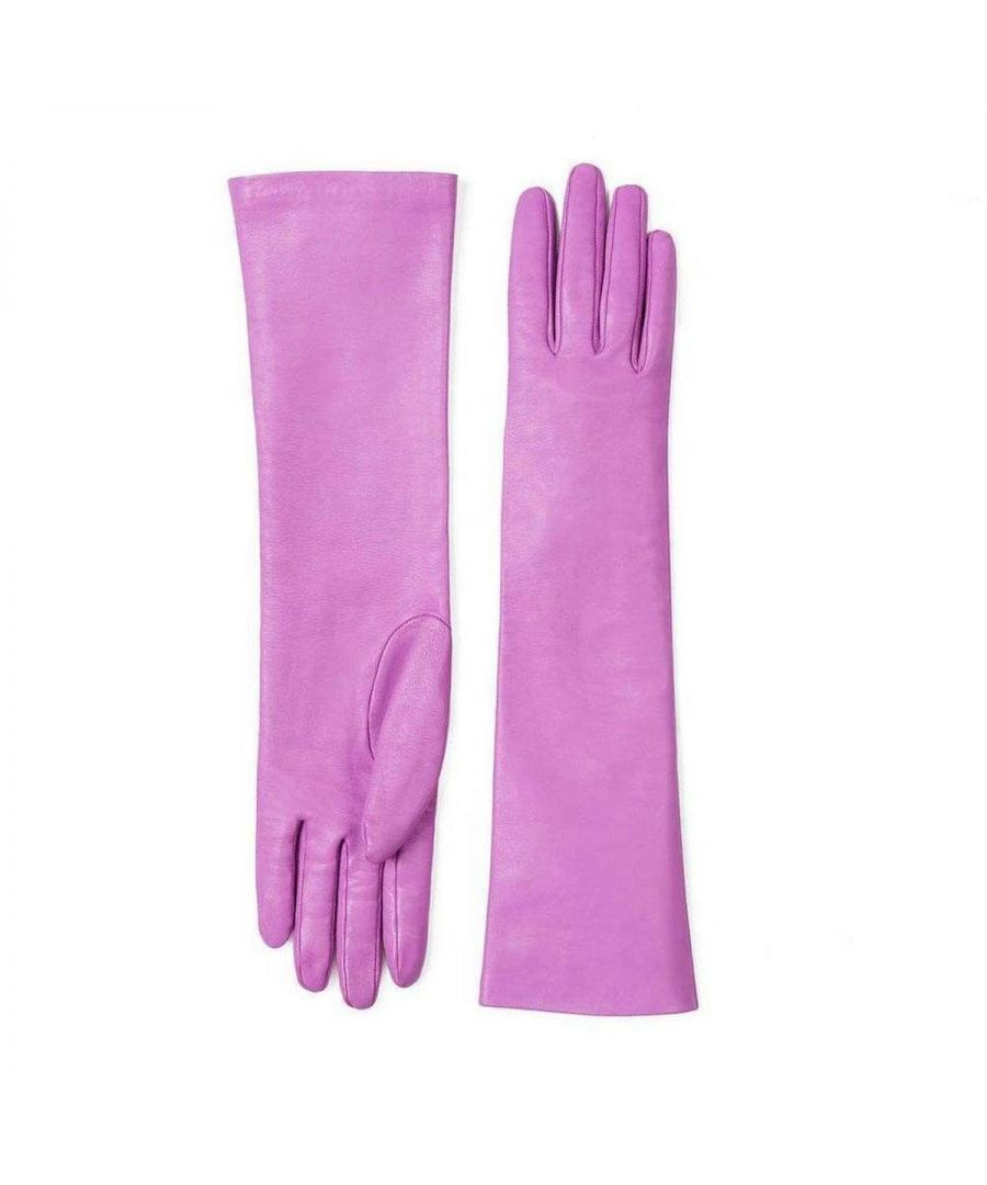 Image for Gucci Elbow Pink Length Leather Gloves