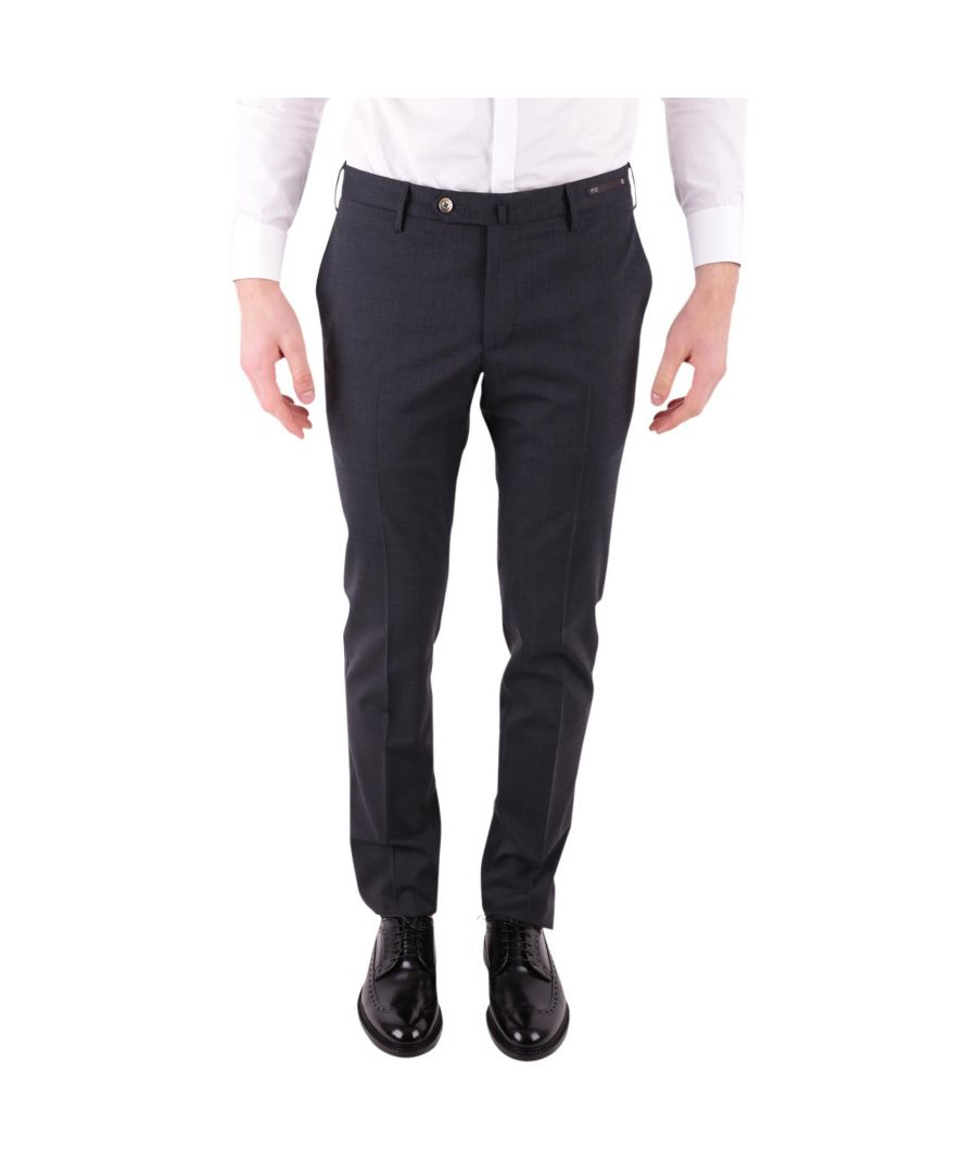 Image for PT01 MEN'S DSTVZ00NTVPO480250 BLUE COTTON PANTS
