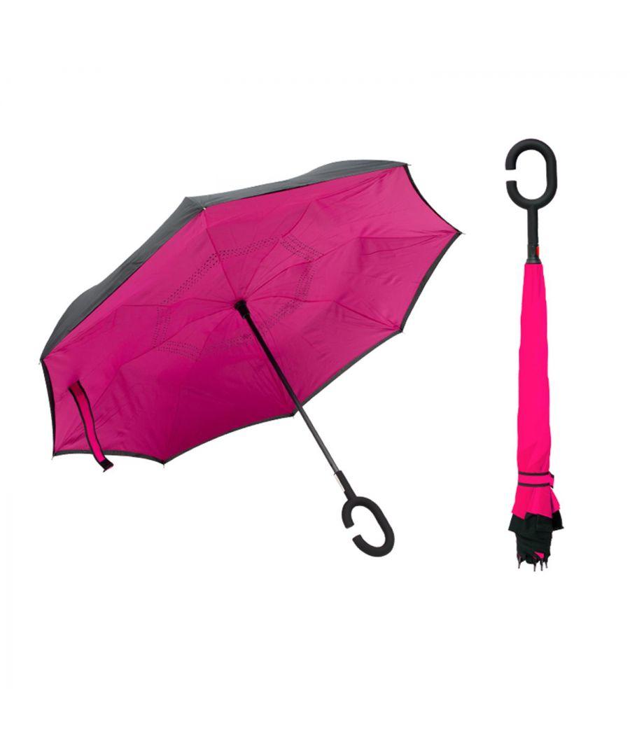 Image for Flo Fashion Reversible Umbrella Pink Plain