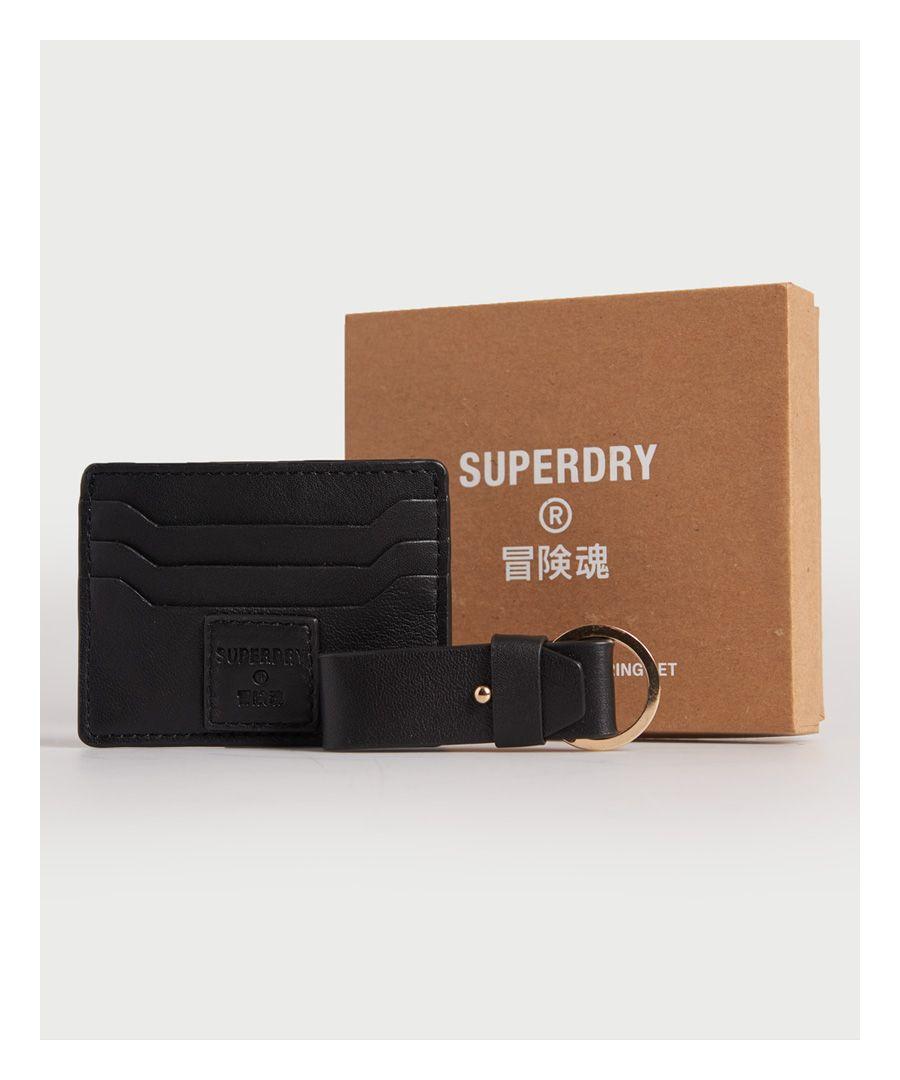 Image for SUPERDRY Card Holder & Keyring Set