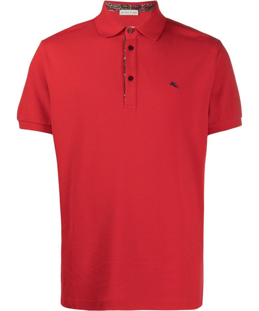 Image for ETRO MEN'S 1Y1429240600 RED COTTON POLO SHIRT