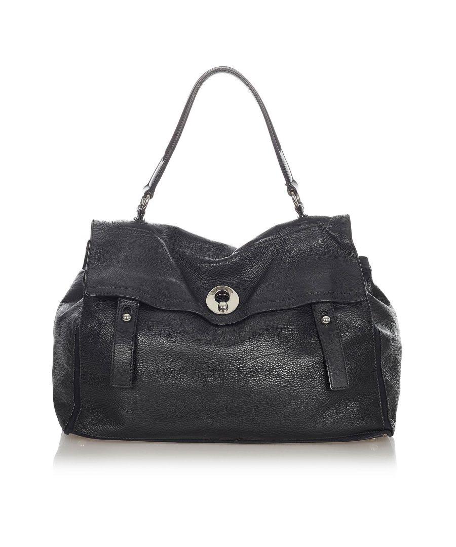 Image for Vintage YSL Muse Two Leather Handbag Black