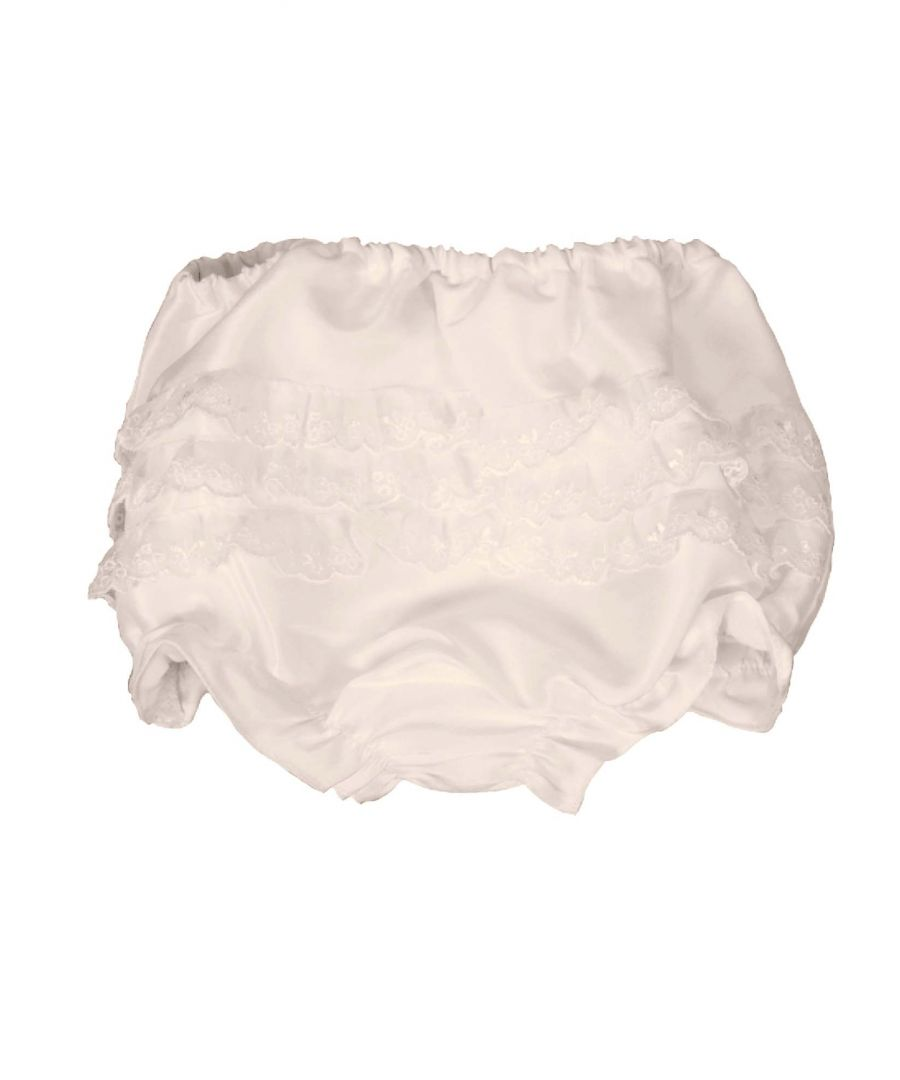 Image for Baby Frilly Antique White Knickers